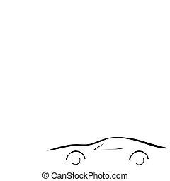 automobile, bianco, sport, fondo