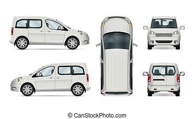automobile, bianco, template., servizio