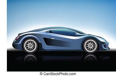 automobile blu