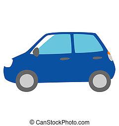 automobile blu, vista laterale