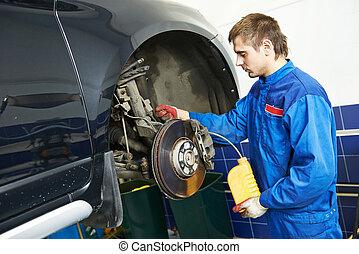 Automobile brake liquid replacing