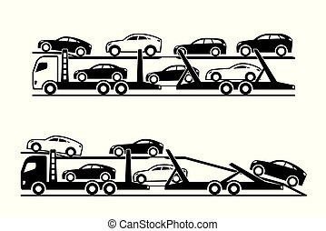 automobile, camion, trasportatore