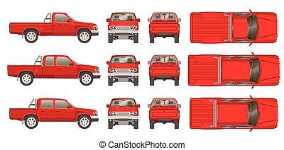 automobile, camioncino scoperto, cabine, tipi