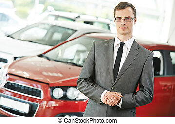 Automobile car dealer salespersom manager