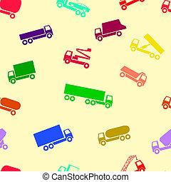 automobile, carta da parati, seamless