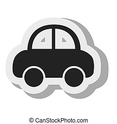 automobile, cartone animato, nero, bussola, trasporto, disegno