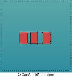 automobile, cima, computer, simbolo