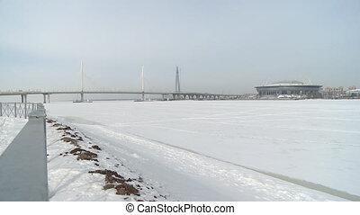 Automobile city bridge video
