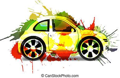 automobile, concetto, vernice