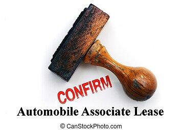 automobile, contratto affitto, -, confermare