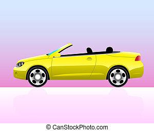 automobile, convertibile, sport, icona