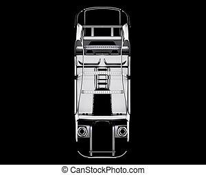 automobile, cornice, isolated., 3d, illustrazione