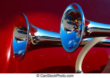 automobile, corno