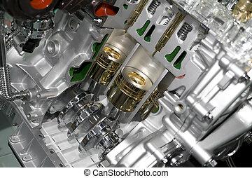 automobile, cylindre, bloc
