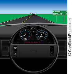 Automobile Dashboard - Vector automobile dashboard...