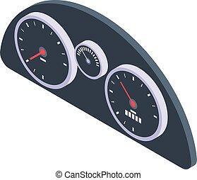 Automobile dashboard icon, isometric style