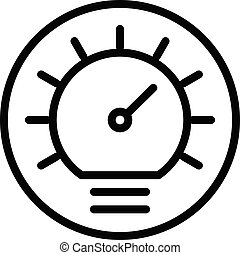 Automobile dashboard icon, outline style