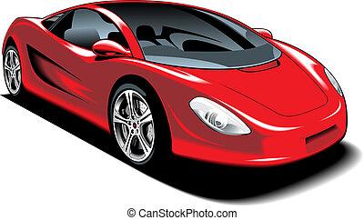 automobile, disegno, mio