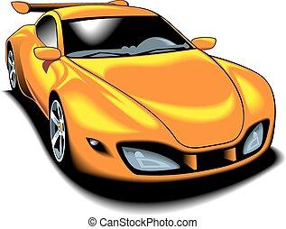 automobile, disegno, originale, mio