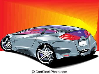 automobile, disegno, originale