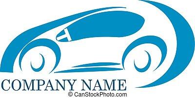 automobile, ditta, logotipo
