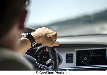 automobile, driver