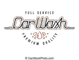 automobile, emblema, lavare