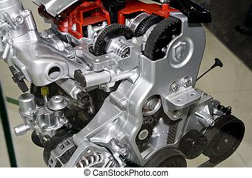 automobile engine - Complex engine of modern car interior...