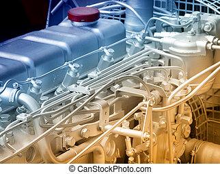 Automobile engine detail