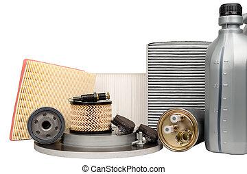 automobile, ensemble, pièces détachées