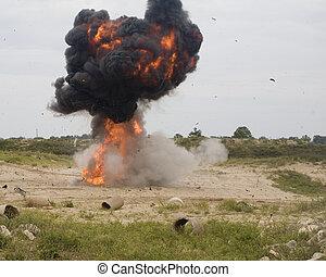 Automobile explosion
