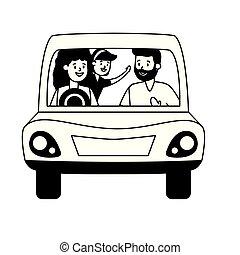 automobile, famiglia