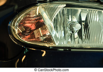 Automobile, faro,  closeup, dettaglio