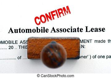 automobile, forma, contratto affitto