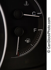 automobile, gas, vuoto, serbatoio