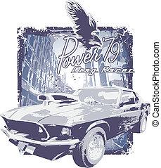 automobile, grunge, classico