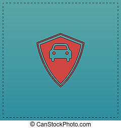 automobile, guardia, computer, simbolo