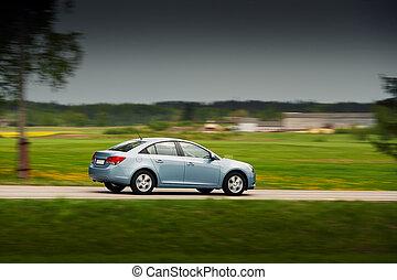 automobile, guidando veloce