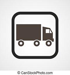 Automobile Icon Flat Simple Vector illustration