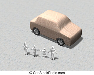 automobile, illustrazione, 3d