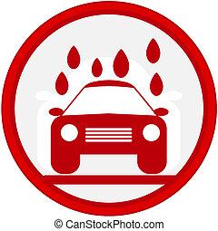 automobile, immagine, segno, lavare