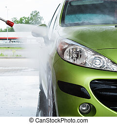Automobile in the car wash