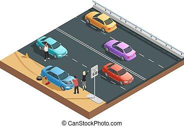 automobile, incidenti, composizione
