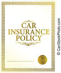 automobile insurance policy illustration design