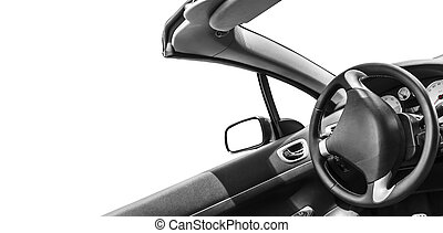 Automobile interior - View of the interior of a modern ...