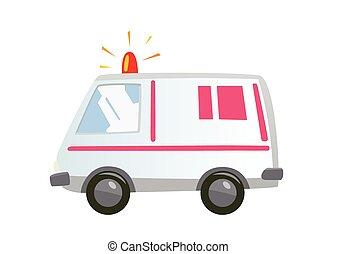 automobile, isolato, ambulanza