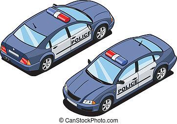 automobile, isometrico, squadra, immagine