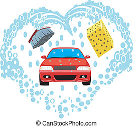 automobile, lavaggio