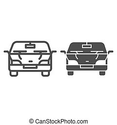 Automobile line and glyph icon. Car vector illustration isolated on white. Vehicle outline style design, designed for web and app. Eps 10.