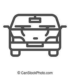 Automobile line icon. Car vector illustration isolated on white. Vehicle outline style design, designed for web and app. Eps 10.